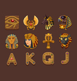 Symbols for slots game vector image vector image