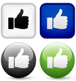 thumbs up buttons vector image vector image