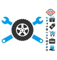 Tire Service Wrenches Icon With Free Bonus vector image vector image