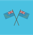tuvalu flag icon in flat design vector image vector image