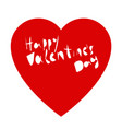 valentines day lettering heart on a white vector image vector image