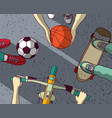 various street sports skateboarding basketball vector image vector image