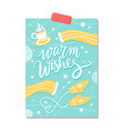 warm wishes blue poster on vector image vector image