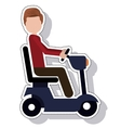 wheelchair silhouette isolated icon vector image