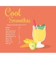 Yellow cool smoothie vector image vector image