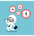 busy concept running out of time business cartoon vector image