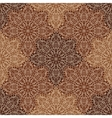 circular ornaments seamless pattern in brown vector image