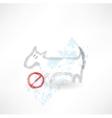 Ban dog grunge icon vector image