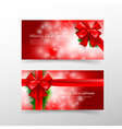 008 Christmas card template for invitation and vector image vector image