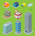 3D Buildings vector image vector image