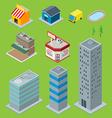 3D Buildings vector image