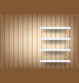 3d mock up realistic wood background and empty vector image vector image