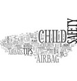 airbag child safety text word cloud concept vector image vector image