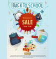 back to school education sale season poster vector image