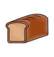 baked bread food breakfast fresh vector image vector image