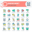 banking and money icons vector image vector image