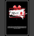 black friday sale banner with copy space grunge vector image