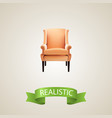 chair realistic element of vector image vector image