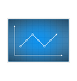 Chart vector image