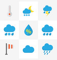 climate flat icons set collection of frosty vector image vector image