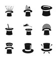 cocked hat icons set simple style vector image vector image