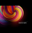 color flow abstract shape poster design vector image vector image