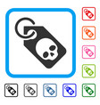 death skull tag framed icon vector image vector image
