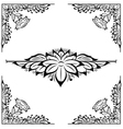 decor floral frame vector image vector image