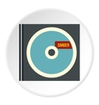 Disk with virus icon flat style vector image vector image