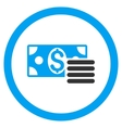 Dollar Cash Rounded Icon vector image vector image