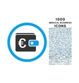 Euro Purse Rounded Icon with 1000 Bonus Icons vector image vector image