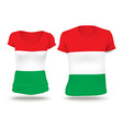 Flag shirt design of Hungary vector image vector image