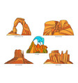 flat signs usa or us nature landscapes vector image