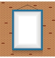 frame for paintings or photographs on the brick vector image vector image