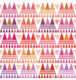 fresh pink purple and orange boho style triangle vector image