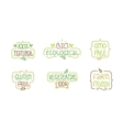 Gmo and gluten free bio ecological natural vector image vector image