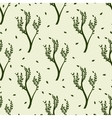 green tree and leaves seamless pattern vector image vector image