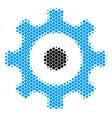 halftone dot gear icon vector image vector image