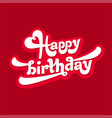 happy birthday logo vector image