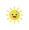 happy sunny smile vector image vector image