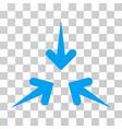 impact arrows icon vector image vector image