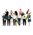infected people in crowd vector image vector image