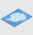 isometric 3d antarctica physical map elements vector image vector image
