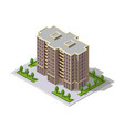 isometric 3d building tower vector image