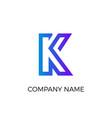 letter logotype minimalistic flat blue logo vector image