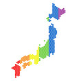lgbt spectrum pixel japan map vector image