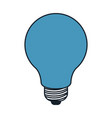 light bulb in color blue sections silhouette vector image vector image