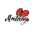 logo for montenegro fridge magnet vector image vector image