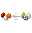 luxury merry christmas horizontal banner vector image vector image