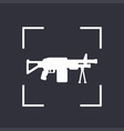 machine gun icon automatic firearm vector image vector image